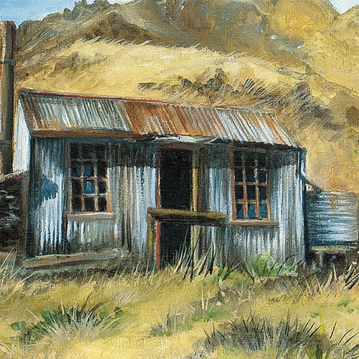 Dynamo Hut Bullendale by NZ artist Tania Jack