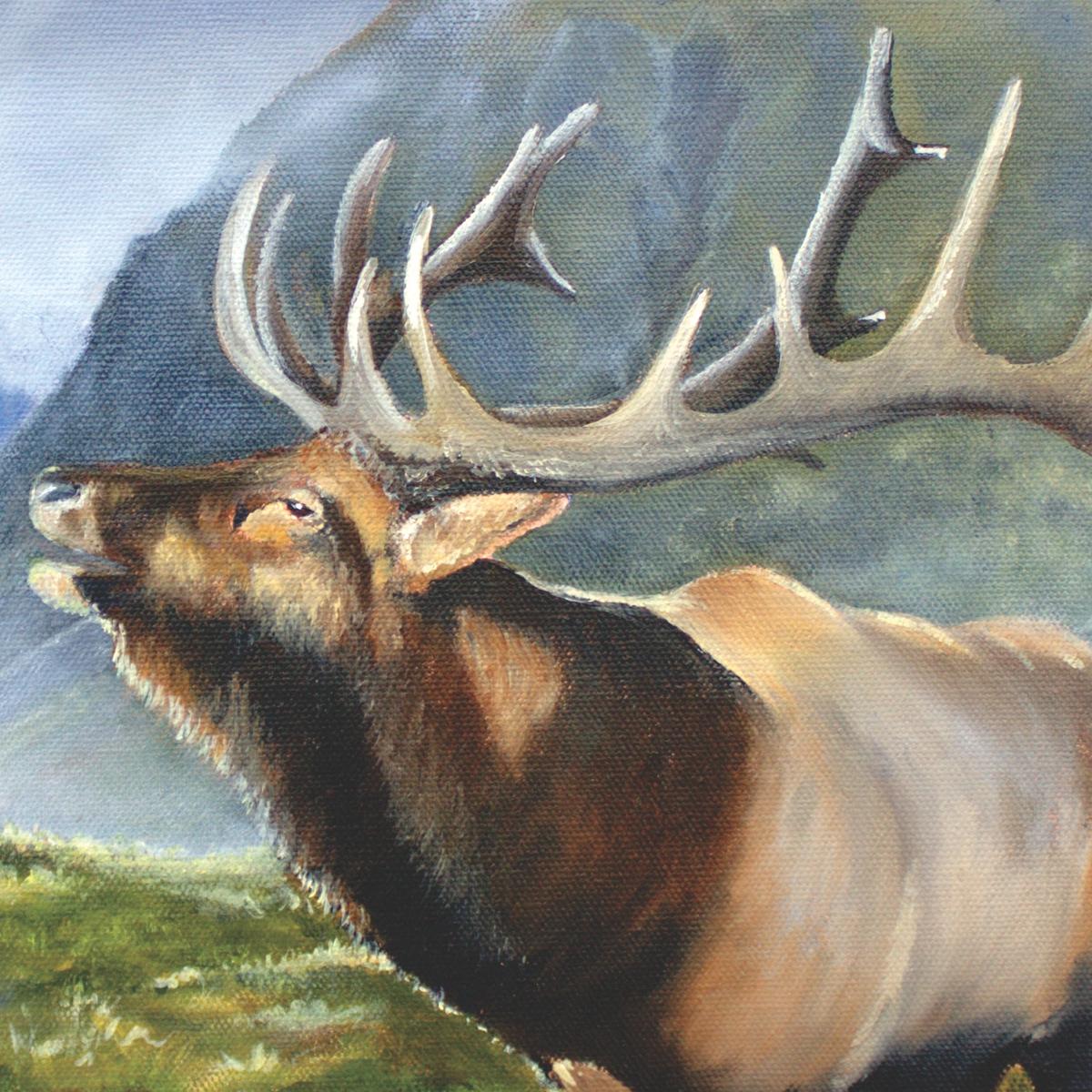 Wapiti - NZ Elk by NZ artist Tania Jack